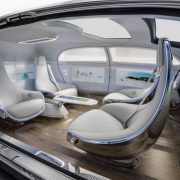 Interior view of Mercedes-Benz F 015 Luxury in Motion