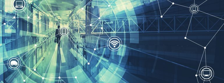 Image shows wireless communication network abstract image visual, internet of things