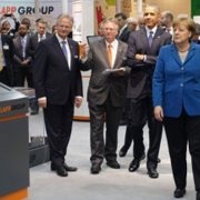 Barack Obama and Angela Merkel at Hannover Messe
