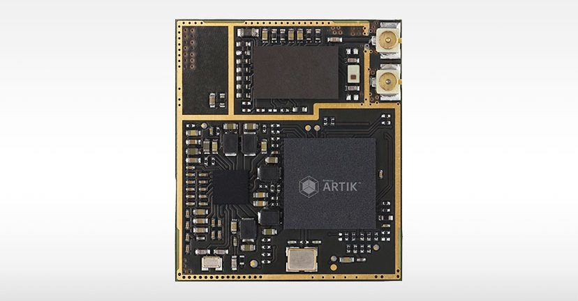 Samsung offers a corresponding cloud service to accompany its Artik IoT modules. Shown here is the Artik 5.