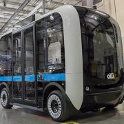 The electric self-driving bus Olli.