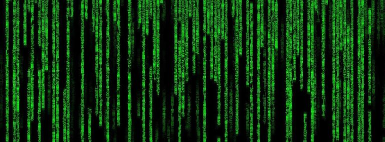 The volume of log data calls to mind the torrent of code in the Matrix films.