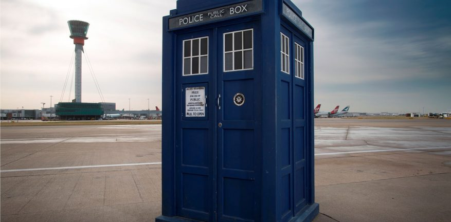 The Tardis time machine / spaceship in Dr. Who was disguised as a police box.