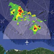 Honeywell has certified a software modification to its 3-D weather radar that allows for crowdsourcing among connected aircraft.