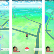 At left is a screenshot of Pokèmon Go from my hotel room in San Francisco. The center screenshot is near my house, while the one on the right is at a nearby strip mall.