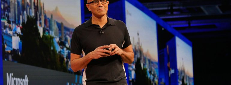 Microsoft's Satya Nadella details the company's plan to become an AI power player.
