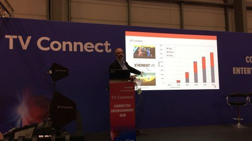 Image of Ovum's Paul Jackson at TV Connect event