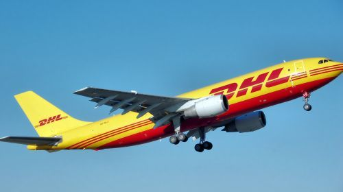 DHL airplane image