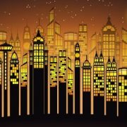 Illustration of a city skyline