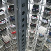 Image of a garage with many cars