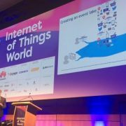 Image of keynote address from IoT World Europe 2016