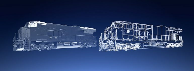 Illustration of GE Transportation digital twin