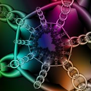 Illustration of chains against a colorful background