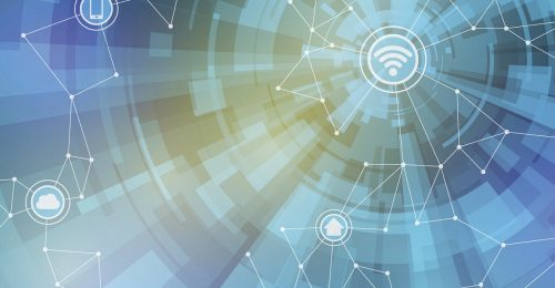 Abstract image of Internet of Things and wireless sensors