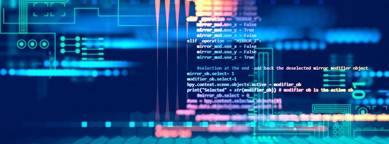 Programming code abstract technology software background