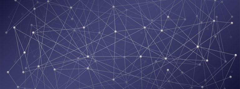 Image shows digital background of science or blockchain