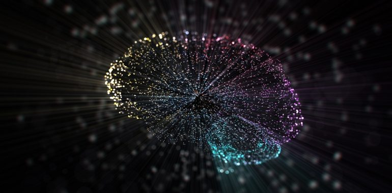Conceptual image of a digital brain depicting artificial intelligence