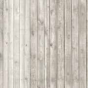 Image of vintage whitewash painted rustic old wooden plank wall textured background. Faded natural wood board panel structure.