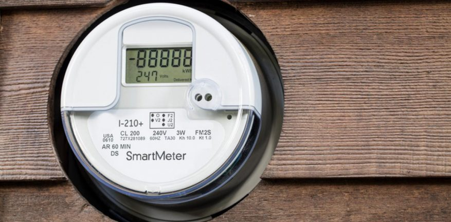 Image shows a smart meter.
