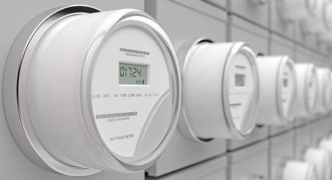 Image shows electric meters on a wall
