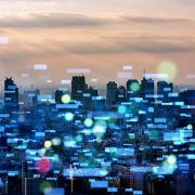 Image shows a futuristic city concept.