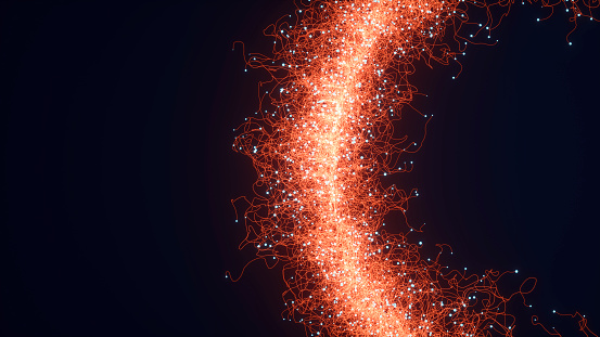 Image shows a background with abstract particles.
